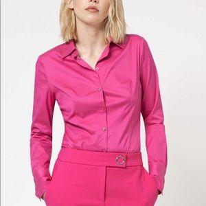 Hugo Boss cotton sill fitted shirt